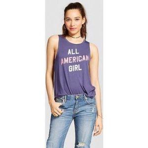 """""""All American Girl"""" Graphic Tank"""